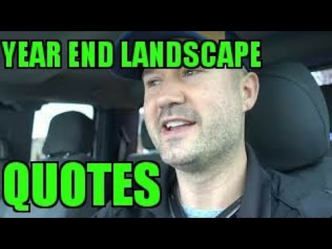 Fall Cleanup Quotes - End of Landscaping Season - VLOG