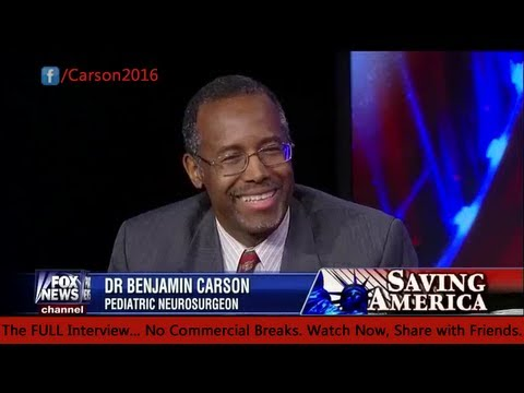 Saving America - Dr. Benjamin Carson on Hannity 2-15-13 FULL