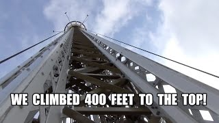 Climbing the 400 Foot Eclipse Star Flyer Ride at Grona Lund Sweden