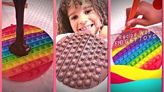 Chocolate Recipe with FIDGET TOYS - Receita de Chocolate com FIDGET TOYS