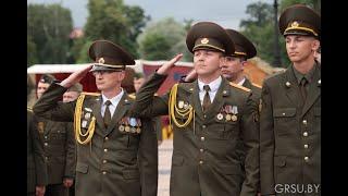 Торжественная церемония выпуска курсантов военного факультета