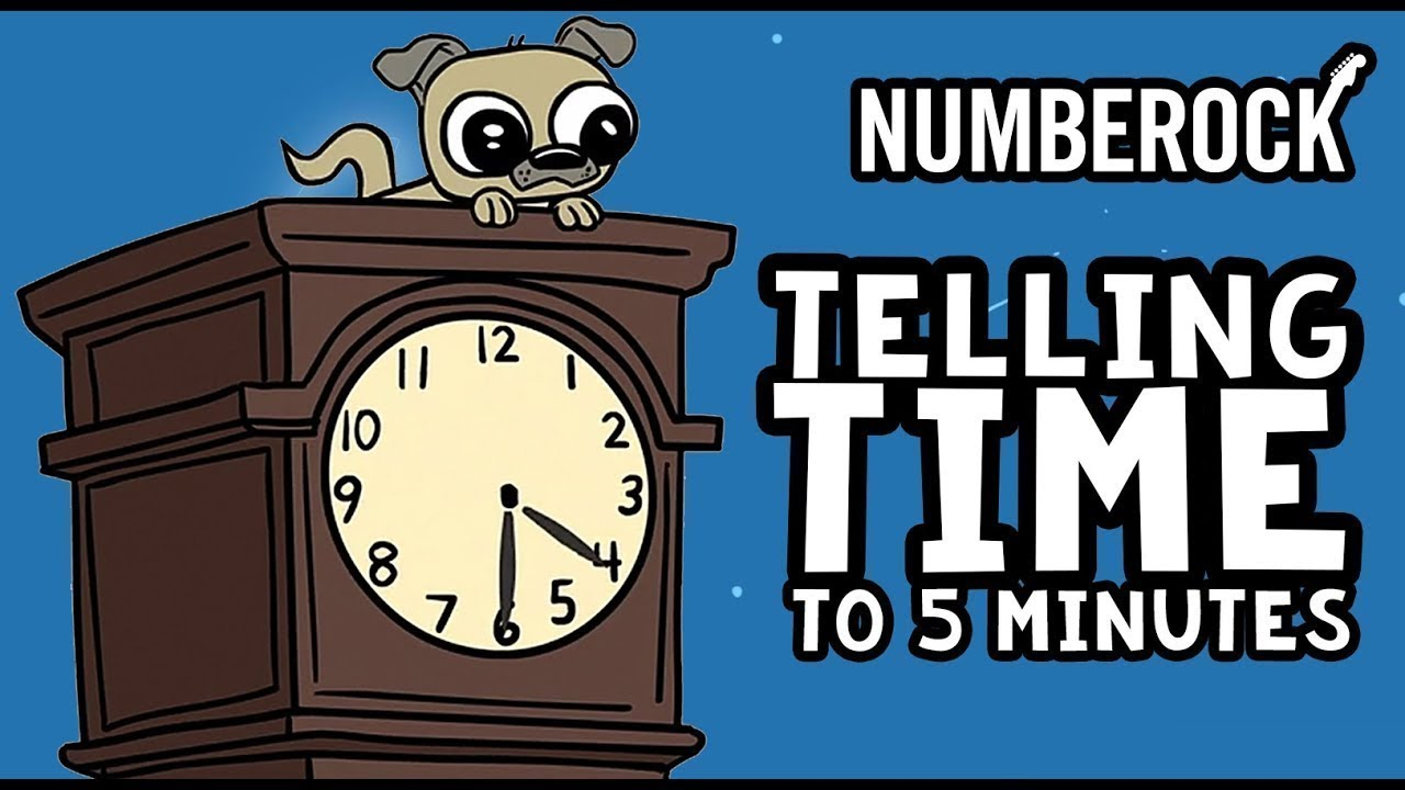 Telling Time Song For Kids Telling Time To 5 Minutes Youtube
