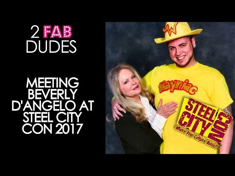 Meeting Beverly D'Angelo at Steel City Con 2017 | 2FabDudes