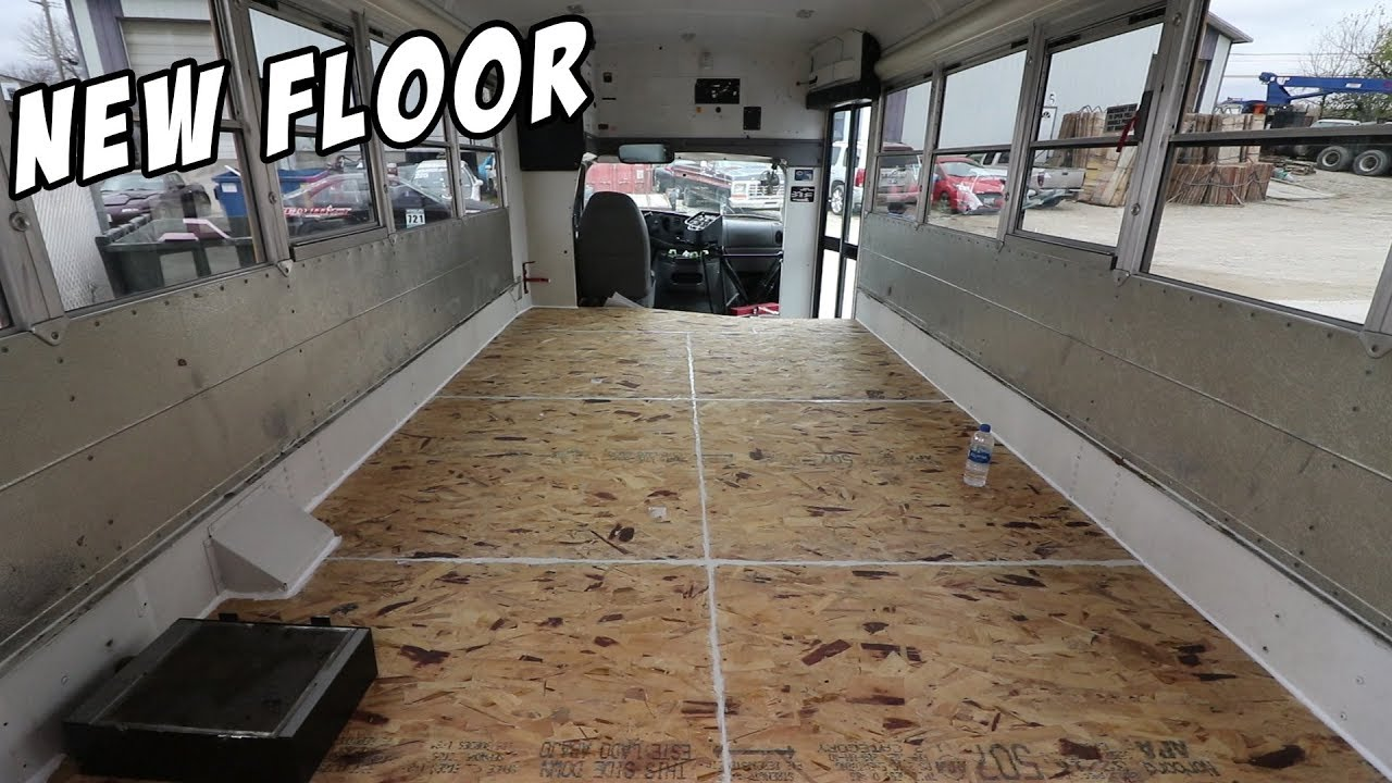 Adventure Bus Build Pt 2 Building A New Insulated Floor Youtube