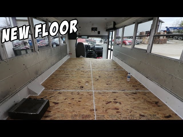 Adventure Bus Build Pt 2 - Building a New, Insulated Floor!