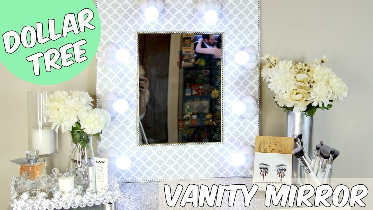 dollar tree vanity mirror d i y tutorial doovi. Black Bedroom Furniture Sets. Home Design Ideas