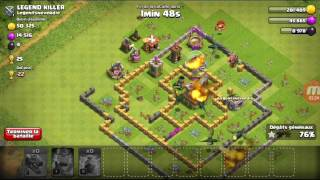 Clash of clans une attaque mais d'autre pour une prochaine vidéo