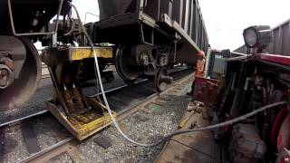 Railcar wheel changeout. AKA Insane Repairs