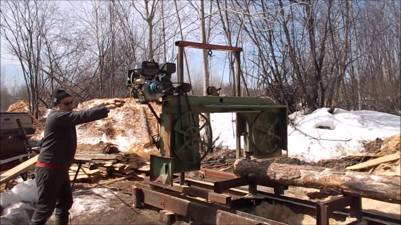 Off Grid Homemade Bandsaw Mill Explained And Demonstrated Youtube