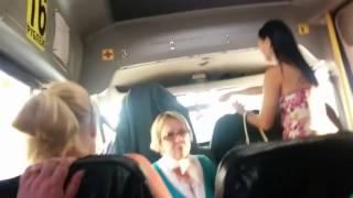 Женщина нацистка в маршрутке