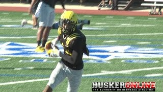 New NU Verbal Commit Jamire Calvin Army Bowl Practice Highlights