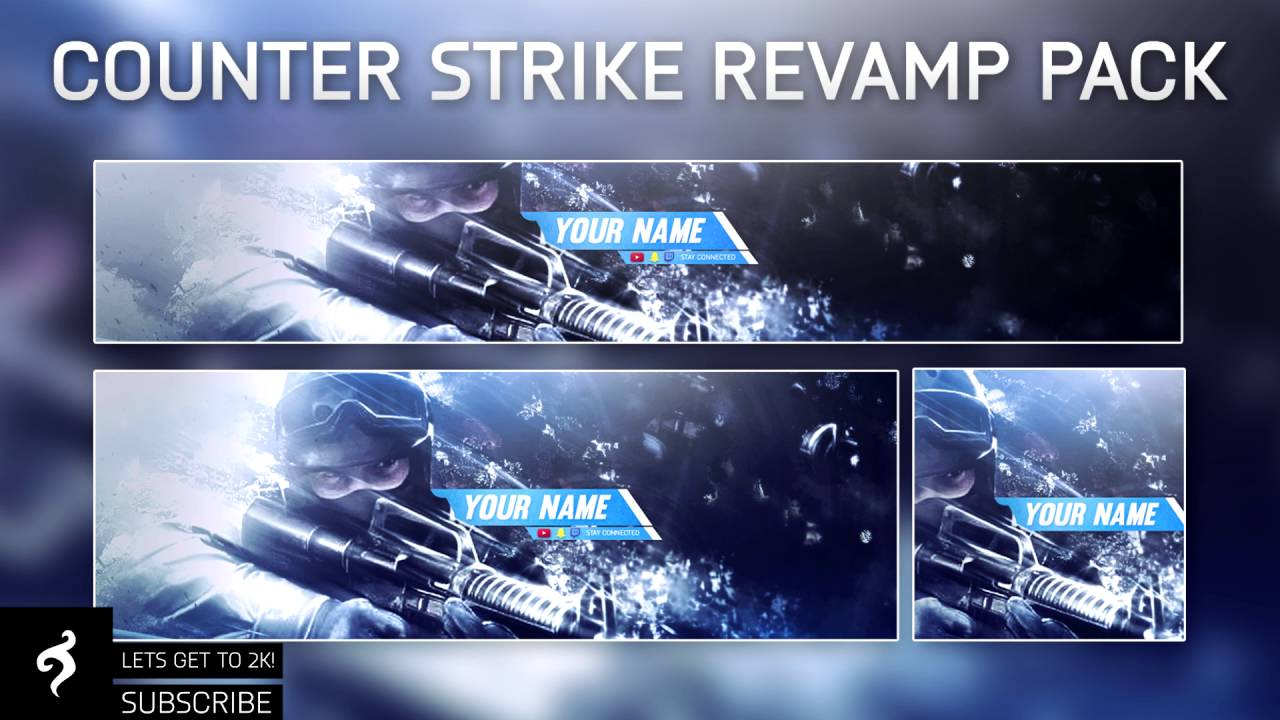 Cs:go banner template | photoshop | fruitchgfx youtube.