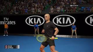 AGASSI vs SAMPRAS AO TENNIS PC GAMEPLAY Australia Open