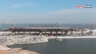 Строительство Керченского моста 11 января