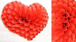 как сделать 3D сердце из бумаги. 14 февраля, день матери подарок