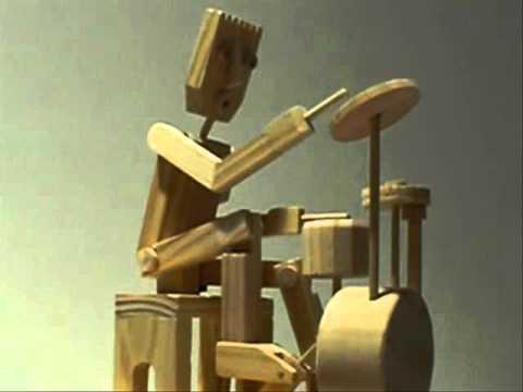 Timberkits Drummer Wood automaton