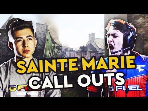 CoD WW2 Map Callouts - Sainte Marie Du Mont