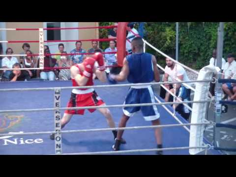 Gala Boxe International Aaron BERTRAND (PCN) vs Abdel Wahb NIMAGA (ASLM Fréjus) Combat Amateur 2017