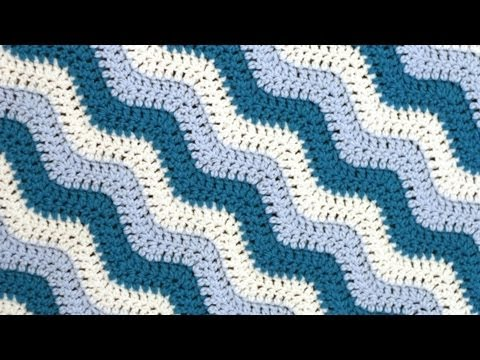 Crochet for Knitters - Rugged Ripples Blanket - YouTube