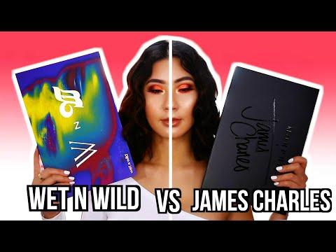 PROBANDO LA PALETA DE WET N WILD Y LA DE JAMES CHARLES.. CUAL SERA MEJOR?! thumbnail