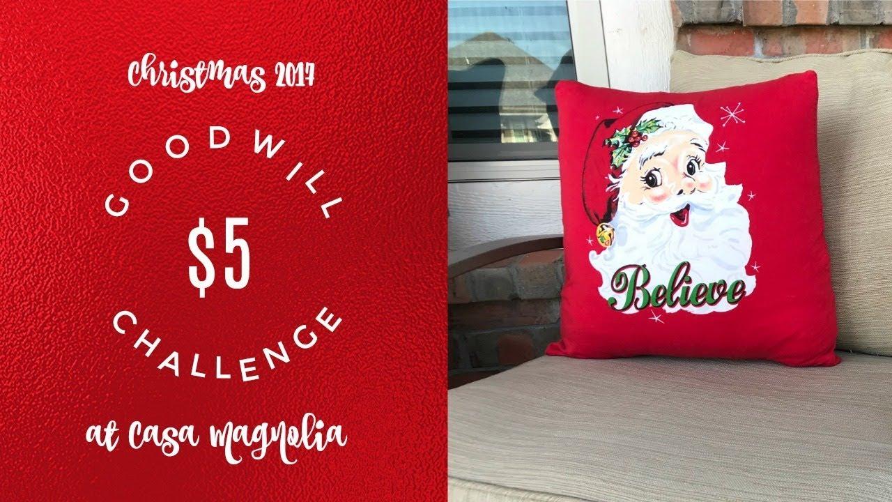 5 goodwill challenge christmas 2017 santa pillow youtube