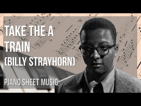 EASY Piano Sheet Music: How to play Take the A Train  Billy Strayhorn