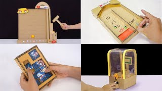 4 DIY Amazing game from cardboard | best out of waste