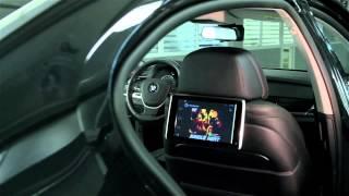 BMW 7 series (F01/02) + BGT-MNS42 на штатных задних мониторах