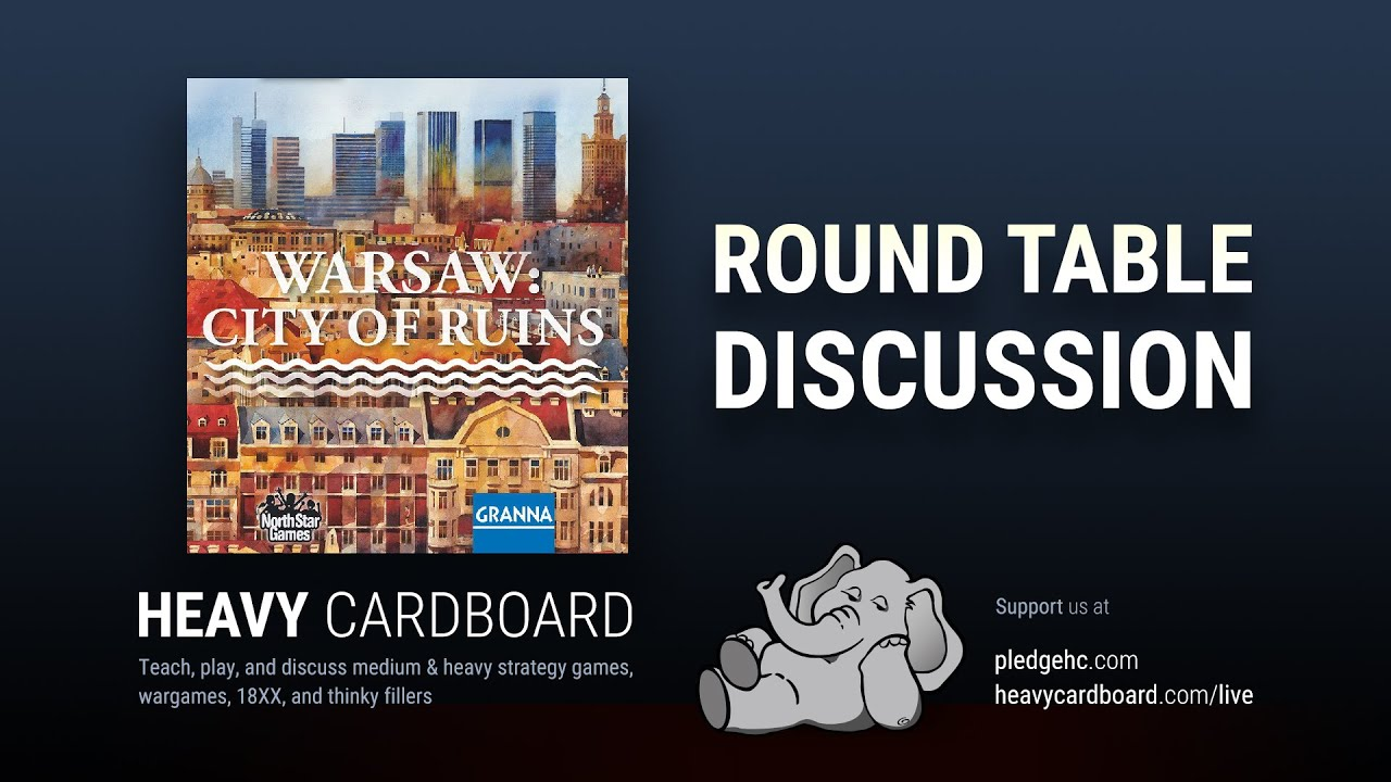 Round Table only - Warsaw: City of Ruins Round Table discussion by Heavy Cardboard
