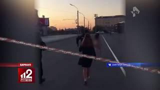 Девушка разделась догола и на спор прошлась по городу. Видео!