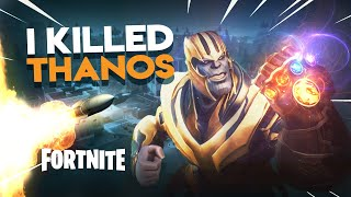 I KILLED THANOS | Fortnite THANOS Gameplay (Infinity War Gauntlet)