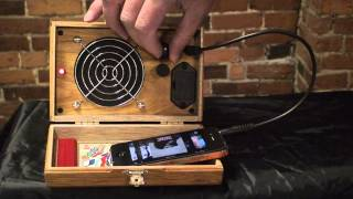 C. B. Gitty Cigar Box Amplifier/Speaker for Smart Phones, iPhone, Android, MP3 Players and More