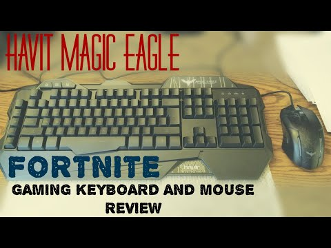 HAVIT Rainbow Backlit Wired Gaming Keyboard And Mouse (Black) FORTNITE REVIEW.