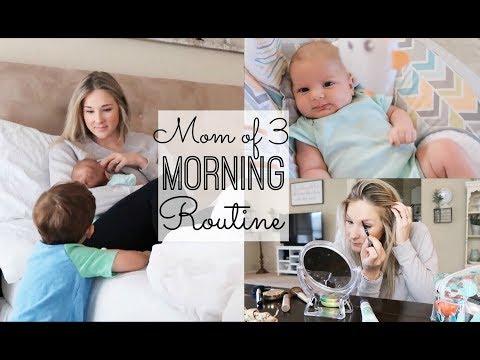 MORNING ROUTINE 2018 | SAHM OF THREE | NEWBORN, TODDLER, 5 YEAR OLD