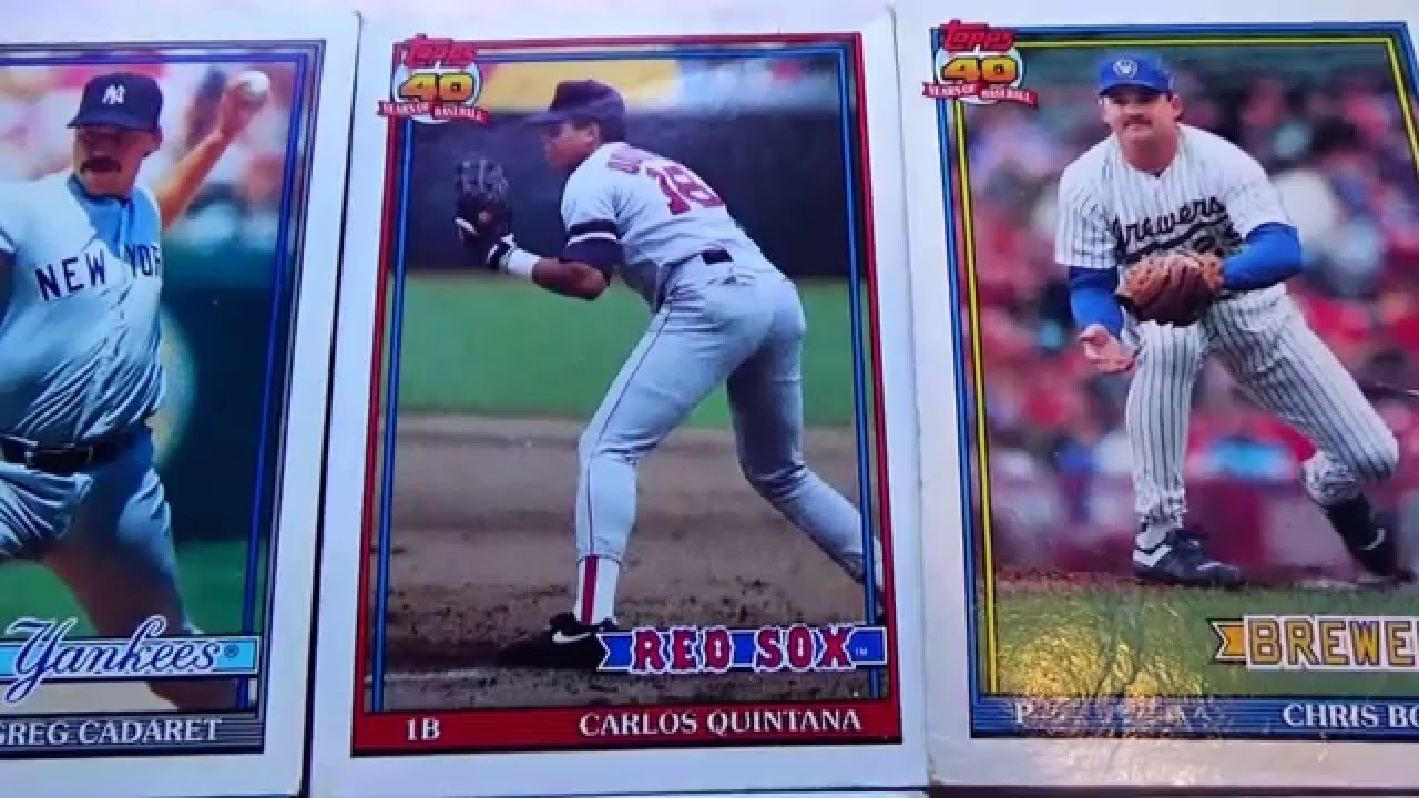 1991 Topps 40 Years Of Baseball Cards Part 1
