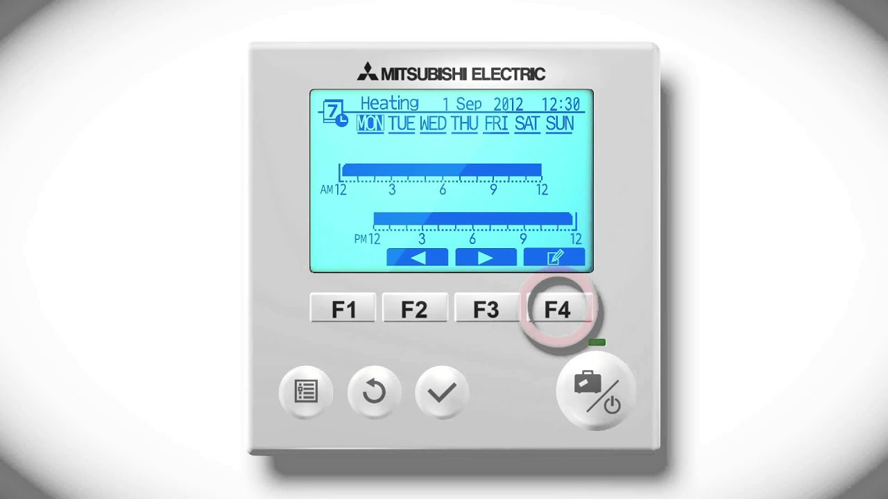 mitsubishi electric ecodan ftc5 ftc4 ftc3 programming hot water and heating timings [ 1280 x 720 Pixel ]
