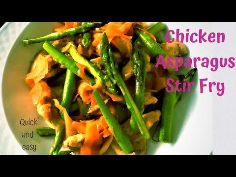 How to make an Easy Chicken Asparagus stir fry