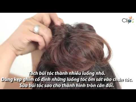 Kiểu búi tóc phồng Hàn Quốc