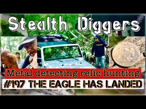 #197 The eagle has landed - Coins relics eagles silver fun history cellar hole metal detecting