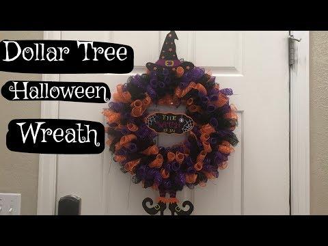Dollar Tree Halloween Wreath DIY