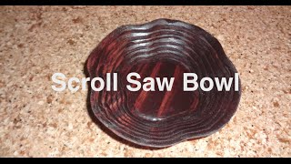 Scroll Saw Spiral Wooden Bowl