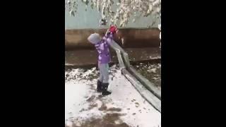 1 декабря снег в Шымкенте  Каролина и снег