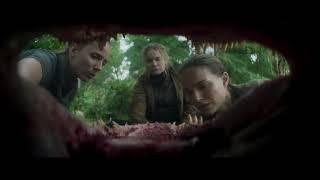 """Нападение крокодила / Момент из фильма """"Аннигиляция 2018"""""""