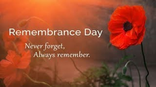 Lest We Forget - Remembrance Day 2018