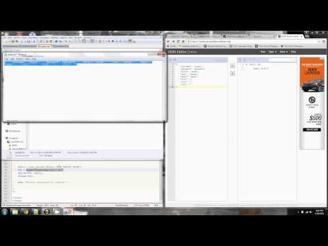 Creating and editing JSON formatted text file
