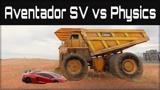 Forza Horizon 3 | Lamborghini Aventador SV  vs  Train, Tram & GIANT Dump Truck!