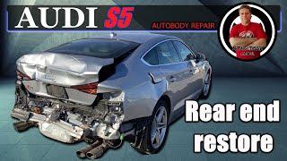 AUDI S5. The rear end restore. Восстановление задней части.