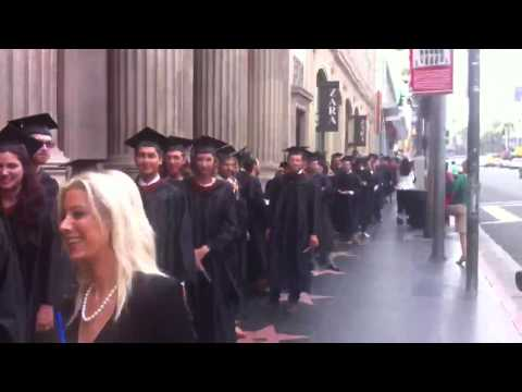 Line-up the grads on Hollywood Blvd