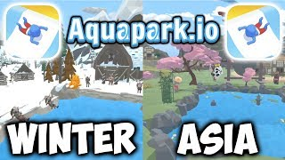 Aquapark.io - Gameplay - New Maps And New Slides (Winter + Asia) (iOS - Android)
