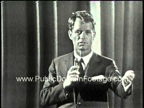 Robert F. Kennedy speech at Columbia University 1964  - RFK speaking